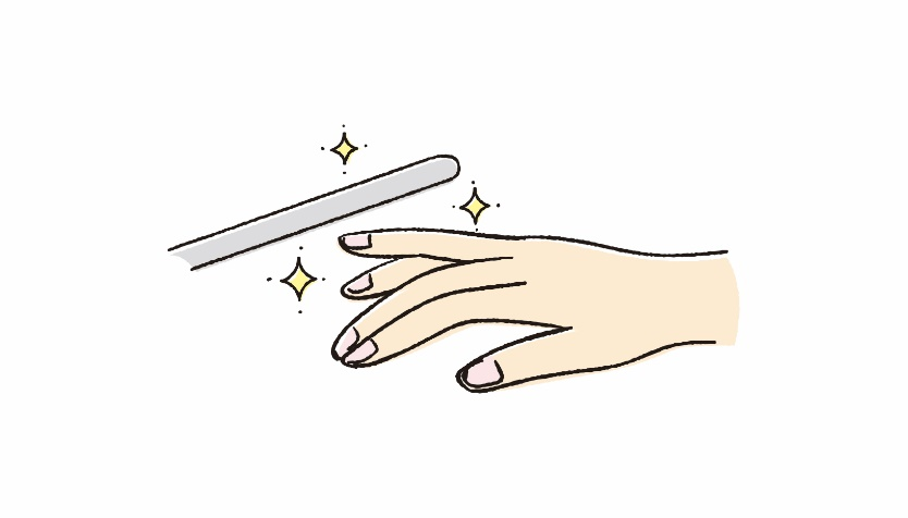爪と棒のイラスト